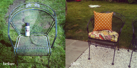 patio chairs before after
