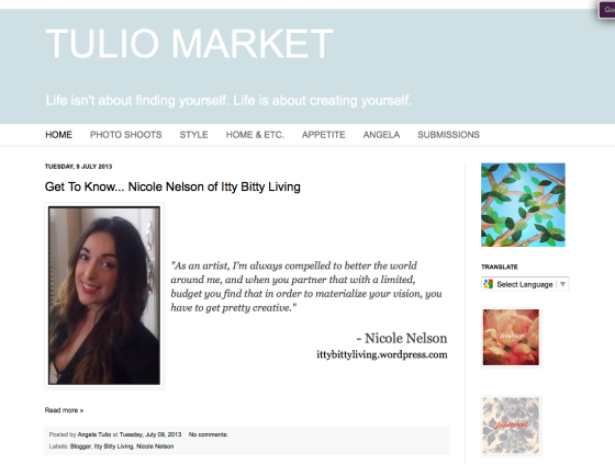 I'm featured on Tulio Market!